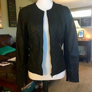 Quilted Leather Harve Bernard Motorcycle Jacket